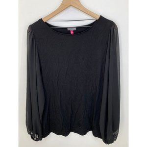 Vince Camuto Long Sleeve Tops Black Size X-Large